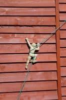3 Naked climbing man wall plaques  Rock Climbers